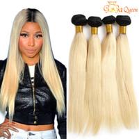 1B/613 Blondes Haar Brasilianisches Straight Haarwebart Bündel 100% Ombre Blonde Menschenhaarbündel 12-24inch