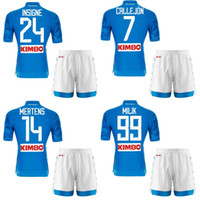 2018 2019 Napoli Home Blue Soccer Jersey Shorts 18 19 Naples...