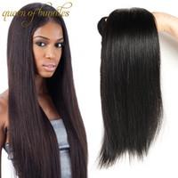 100% Unverarbeitete Reine Menschenhaar 3/4 Stücke Peruanischen Malaysisches Indisches Gerades Haar Spinnt Günstige Haarverlängerungen Gerade