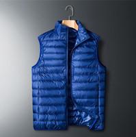 Мужская зимняя куртка без рукавов мужчины дизайнер вниз жилет мужские теплые толстые пальто работы жилет жиле Homme жилеты