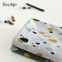 1ae61f3323d Buulqo cotton knitted fabric stretchy Printed raindrop knitted jersey fabric  by half meter DIY baby clothing 50x180cm