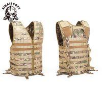 SINAIRSOFT Molle Airsoft Тактические Жилеты Камуфляж Жилет Army CS Открытый Рыбалка Охота Снаряжение с Карманом Гидратации Ciras Stealth Vest