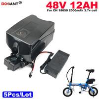 Envío gratis venta al por mayor 5 unids / lote batería de litio de coche eléctrico 48 V 12AH 13S 6P E-Bike batería para Bafang BBSHD 1000W Motor