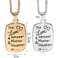 The Love between A Mother & Daughter is Letters Pendant Neck...