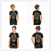 New Fashion 3D Lion Child tshirt with Light Sleeveless Pullo...