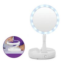 New My Fold Away LED Makeup Mirror Double- sided Rotation Fol...