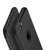 Новый роскошный тонкий силиконовый капа для iPhone Xs XsMax Xr X 8 7 6 6 S Plus 5 5S SE чехол черный мягкий матовый чехол для телефона ТПУ