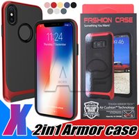 For Iphone X 10 8 7 Case Armor Hybrid Shockproof Shell Back ...