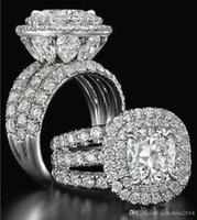 a1c1fb4a5ac5 Victoria Wieck Impresionantes joyas de lujo Anillos para parejas Plata de  ley 925 Pera de zafiro Esmeralda Múltiples piedras preciosas Conjunto de  anillos ...