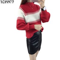 Women Sweaters 2017 Autumn Tricot New Casual Ruff Sleeve Swe...