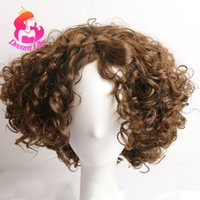 DreamlikeHair Brown Heat Resistant Synthetic Hair Wigs for B...