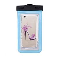 العالمي للماء الهواتف المحمولة PVC الحقيبة حقيبة الجاف القضية لفون 7/6 زائد سامسونج غالاكسي الهاتف المحمول الذكية شفاف حار
