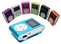 Colorido Mini Clipe MP3 Player com 1.2 '' LCD de Tela de Leitor de Música com Cartão Micro SD TF Slot / Fone de Ouvido / Cabo USB com caixa de Presente LLFA
