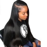 Venta al por mayor 18 pulgadas 150% de densidad 360 Frente de encaje Pelucas para el cabello humano para las mujeres Black Silky Sily Sildely Brasil La peluca delantera del encaje prefabricada Remy