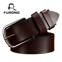 FURONG 2 color male belts for men genuine cow leather strap ...