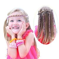 Pop Fashion Kids Girl Mom Curler Hair Braid Sticker Baby Decor Hair Accessories Spiral Spin Hairpin Hair Barrette