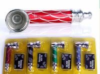 Nuovo portatile a forma di tubo di tabacco da pipa in metallo con pipa fumo tubo mini sigaretta in acciaio inox fumo tubi fumo stocks fumo accessorie