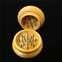 Wood Tobacco Grinders wooden spice herb handle grinders crus...