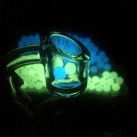 Comercio al por mayor 6mm 8mm Term Terp Dab Perlas Luminoso Brillante Azul Verde Claro Perlas de Cuarzo bola Para Cuarzo Banger Nails Bongs Dab Rigs