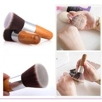 Flat Top Buffer Foundation Powder Brush Cosmetic Salon Brush...