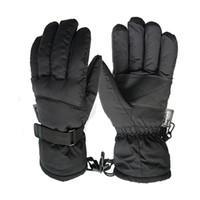Nueva marca Invierno al aire libre Guantes de hombre Invierno Cálido negro guantes de esquí A prueba de viento Guantes impermeables a prueba de viento Envío gratis