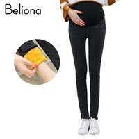 Fashion Warm Maternity Jeans Denim Pants Trousers for Pregna...