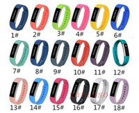 18color 2018 новые силиконовые часы браслет ремешок ремешок для Fitbit Альта смарт часы нет трекер L / S размер Pk Fitbit заряд 2