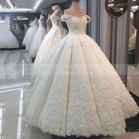 White Ball Gown Wedding Dresses Sexy Off The Shoulder Prince...