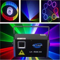 2000MW Scheda SD Card Iilda Laser programmabile illuminazione laser Mostra il proiettore ANIMAZIONI RGB Full Color RGB Sistema di partito Discoteca