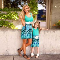 Hotsale Family Set Above Knee Mother Daughter Dress Mom and ...
