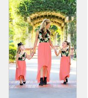 Family Matching Outfits mother daughter dresses flower print...