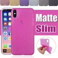 0. 3mm Ultra Slim Matte Frosted Transparent Flexible Cear Sof...