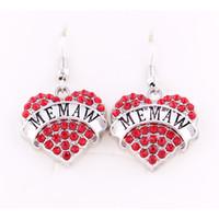 Специальный дизайн мода форма сердца Кристалл сообщение MEMAW Шарм подвески серьги DIY аксессуары для женщин ювелирные изделия