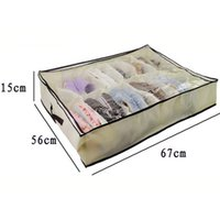 Foldable Shoes Storage Bag Box Rack Underbed Organizers Clos...