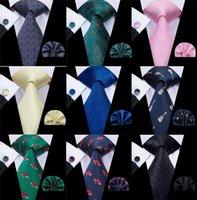 10 Styles 8.5cm Hommes Silk ties Mode pour hommes Classic Silk Boutons de manchette Hanky Jacquard Woven Wholesale Wholesale Parti d'affaires Livraison gratuite