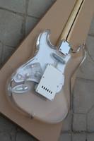 Freies Verschiffen heiße elektrische Gitarre Yakeli transparente organische Glasharpenkörpergitarre