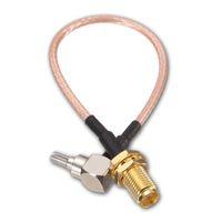 HF-SMA-Schalter CRC9-Pigtail-Kabel SMA-Buchse-Bulkhead-Verbindungsstück-Schalter