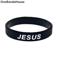 1PC Jesus Cross Fair and Love Silicone Rubber Wristband Blac...