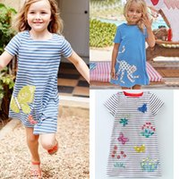 2018 Cute Summer Cotton Dress Girls Casual Short- Sleeved Str...