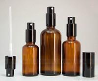 Livre DHL envio 10ml 15ml 20ml 30ml 50ml 100ml Âmbar Rodada recarregáveis Frascos de vidro Spray de perfume Pulverizador Cosmetic Atomizers