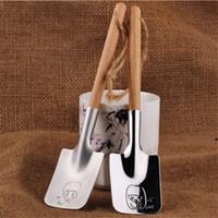 Vajilla de acero inoxidable de plata Juego de Cubiertos Cuchara Postre Sandía Cuchara Pareja Creativa Regalo de San Valentín 2 Estilo YYA1192