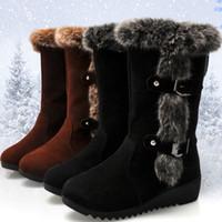 f2953c308abc Baoaili Mode klassische Lady Neue Flock Boots Vendita calda Spedizione  gratuita Stivali Donna Tempo libero Frauen