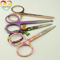 Easy Nail 1pcs New Pretty Pattern Makeup Scissor Manicure Fo...