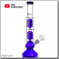 Dab Rig Glass Bong Two- layer 6x arms perc bongs NEW glass wa...