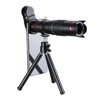 HD 4K 22x Увеличить Мобильный телефон объектива телескопа Универсальный зажим 22X Telephoto Внешний смартфон Линзы камеры для IPhone Sumsung HUAWEI телефонов