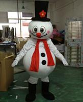 2019 venda direta da fábrica do boneco de neve do natal da mascote do traje de natal popular trajes de boneco de neve do dia das bruxas para fontes do partido de Halloween
