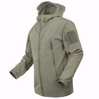 Ejército chaqueta de camuflaje chaqueta impermeable impermeable cazadora cazadora ropa ejército TAD hombres abrigos chaquetas y abrigos 2017