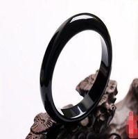 새로운 아름다운 자연 블랙 마노 옥 팔찌 팔찌