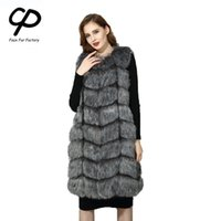 CP Faux Fur Factory Fox Faux Fur Vest Women Winter Warm Fox ...