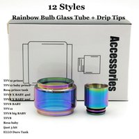 Replacement Extend Rainbow Bulb Glass Tube + Drip Tips Set F...